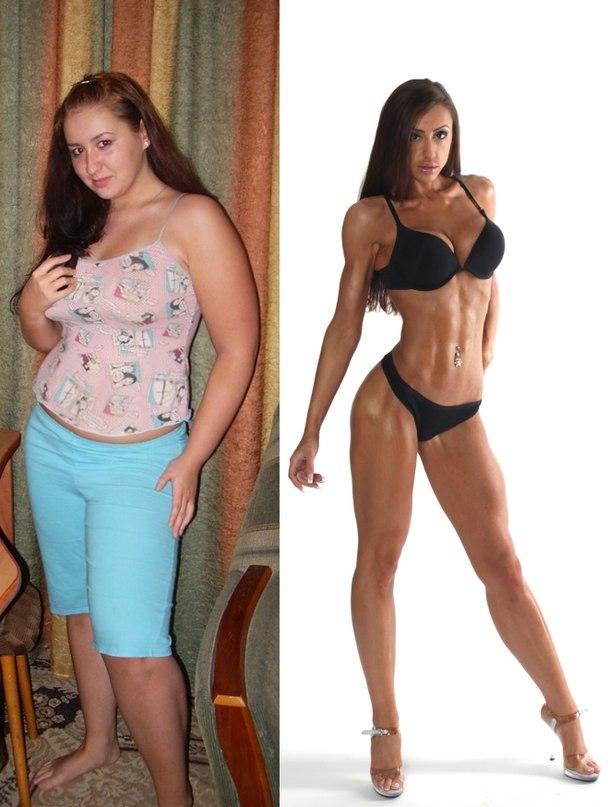 Похудеть и накачаться девушке