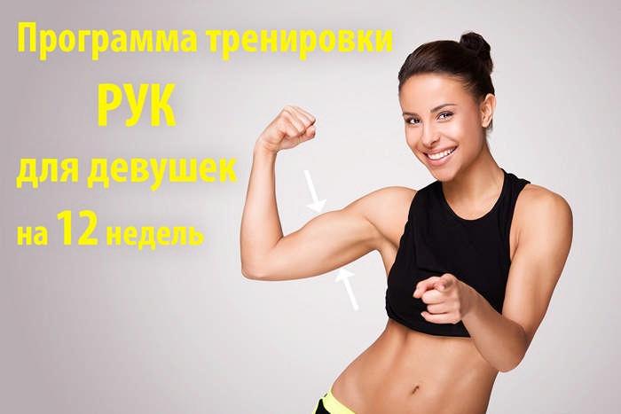 Женская программа тренировок для тонуса мышц рук