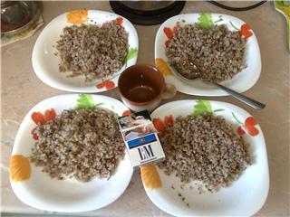 Как выглядят 250 грамм гречки в приготовленном виде?