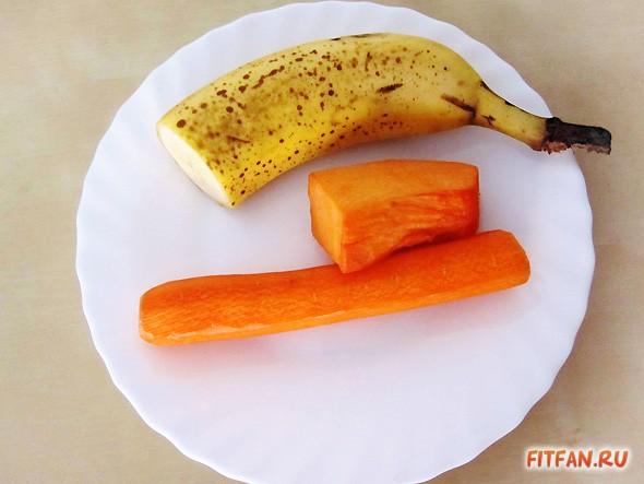 Двуслойный смузи с бананом