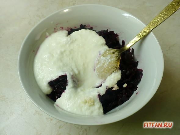 Свекла в йогурте