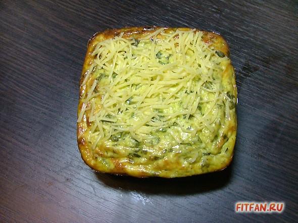 Сырные кексы со шпинатом
